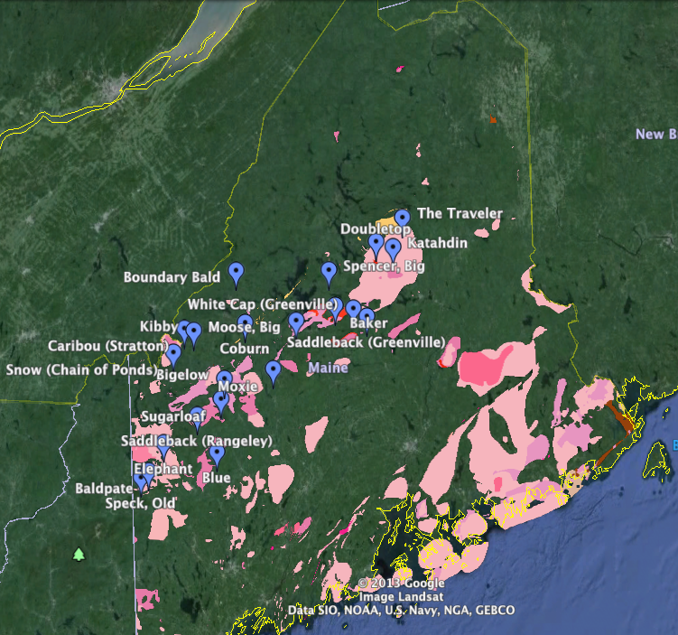 Maine Geology Hikes New England S 50 Finest