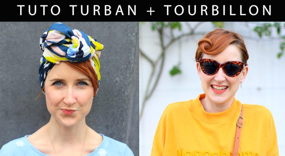 "Comment se coiffer avec un foulard "" Tuto turban (+ tourbillon !)"