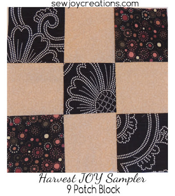 9 patch block for Harvest JOY sampler