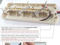 Trik Memasang Kabel Listrik Pada Penahan Kabel Stopkontak