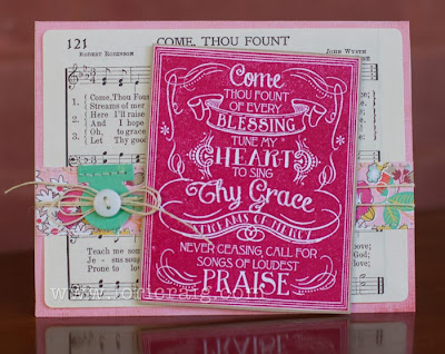 ODBD Chalkboard - Hymns ODBD Customer Card of the Day Lori Craig