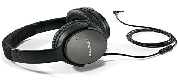 With the Bose Quiet Comfort 25 Acoustic Noise Cancelling Headphones, loud noises are reduced to a whisper and sounds from music you not have noticed before.