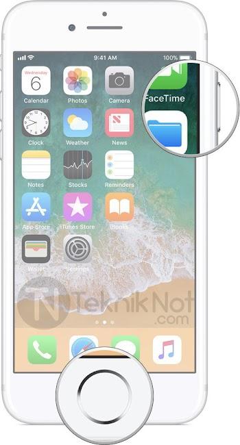 iPhone 8, iPhone 7, iPhone 6  Ekran Görüntüsü Alma