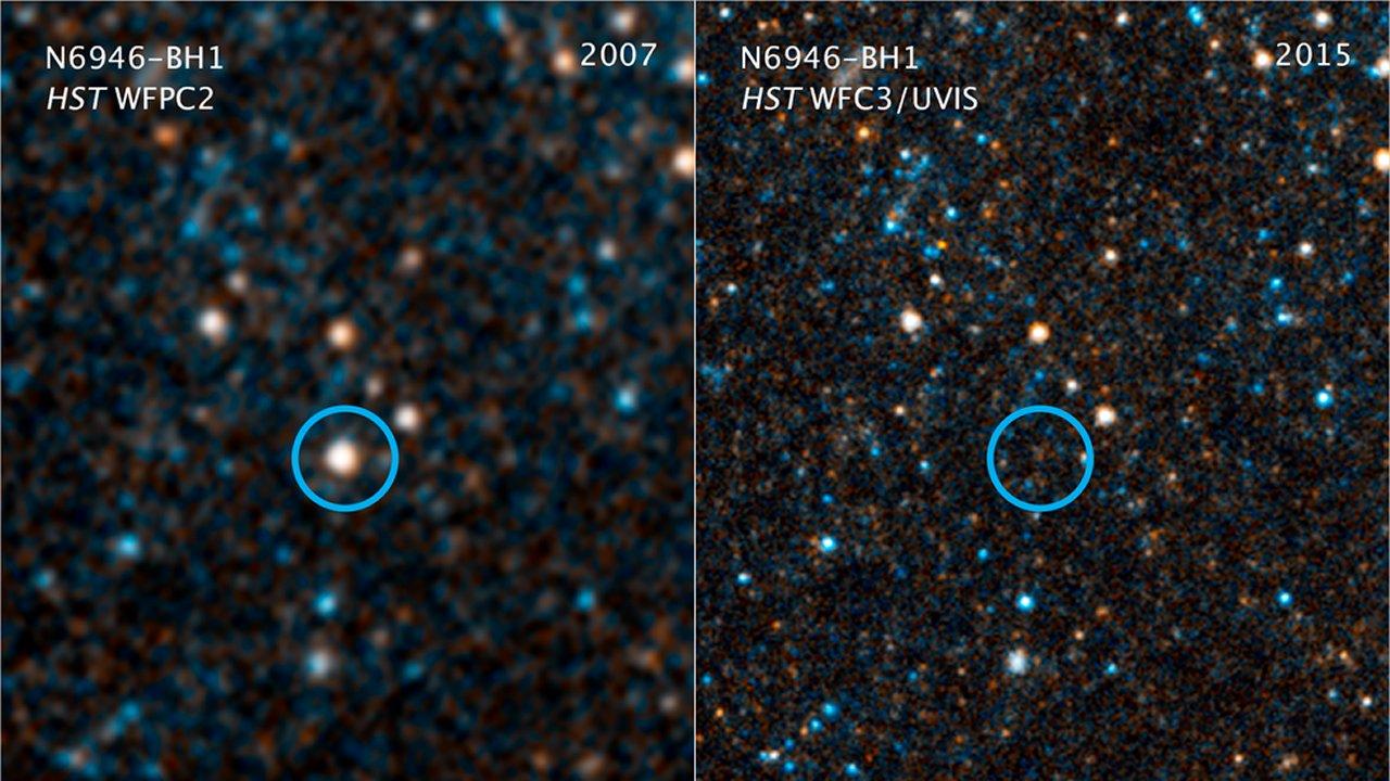 N6946-BH1 - Estrella desaparece de nuestro universo sin dejar rastro