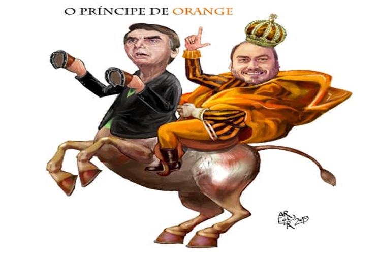 Resultado de imagem para carlos Bolsonaro charges