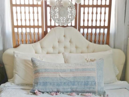 Upcycled Rug Bolster Pillow