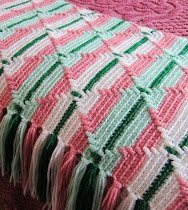 Pink And Green Afghan