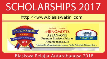 Biasiswa Pelajar Antarabangsa 2018