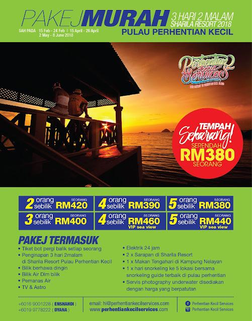 Pakej Perhentian Kecil , Pakej Pulau Perhentian 2018 , Terengganu