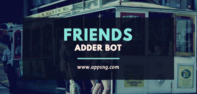 Facebook friend adder bot