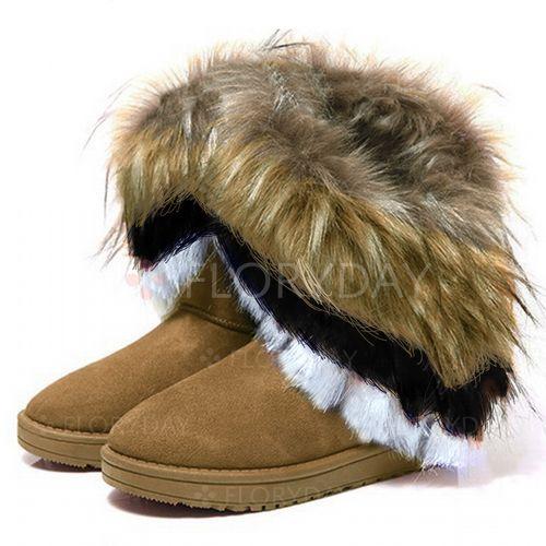 Split Joint Ankle Boots Flat Heel Shoe