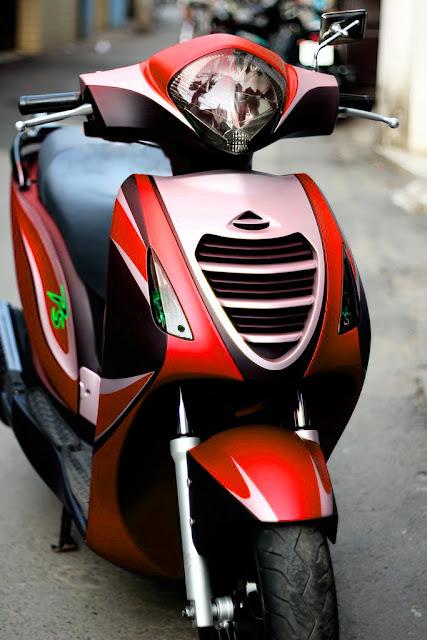 Sơn phối màu xe Honda PS 3 màu