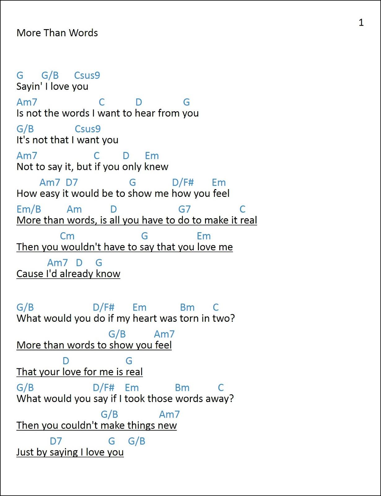 Just by saying i love you lyrics