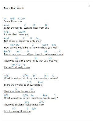 [Mattwins]: More Than Words Lyrics and Chords - Extreme