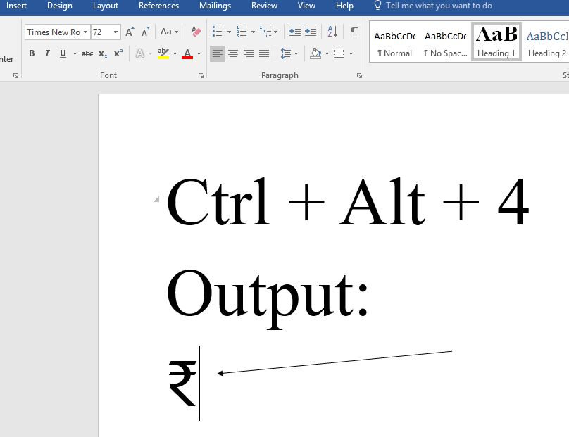 How To Use Rupee Symbol Keyboard Shortcut In Windows 10 H2s Media