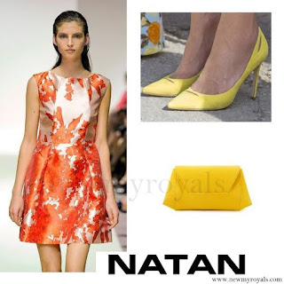 Queen Maxima wore NATAN Dress, Pumps, Clutch