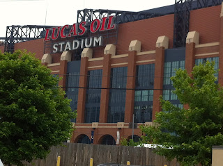 Lucas Oil Stadium from Hotel Parking Lot - Indianapolis