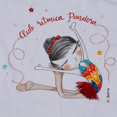 Camiseta gimnasia rítmica personalizada