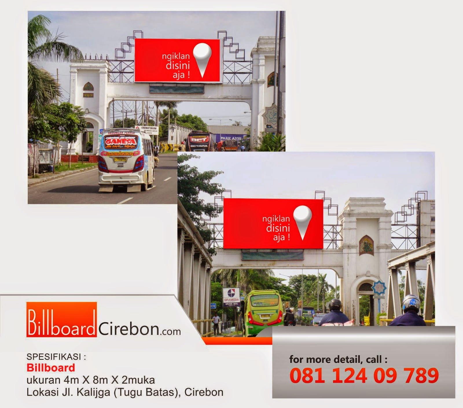 Pasang Billboard Kalijaga / Tugu Batas Cirebon