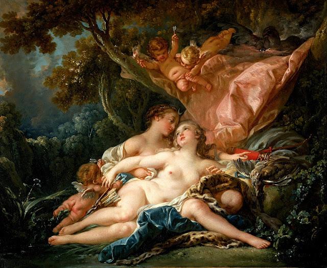 Francois Boucher - Giove seduce Callisto dopo aver preso le sembianze di Diana