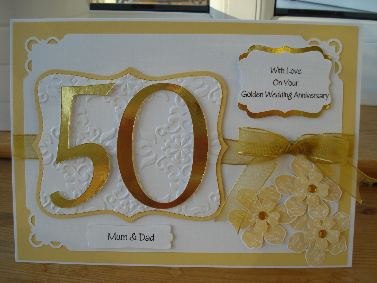 Golden Wedding Gift Ideas For Parents: Shari-Anne Happy Crafter: 50th Wedding Anniversary Commission