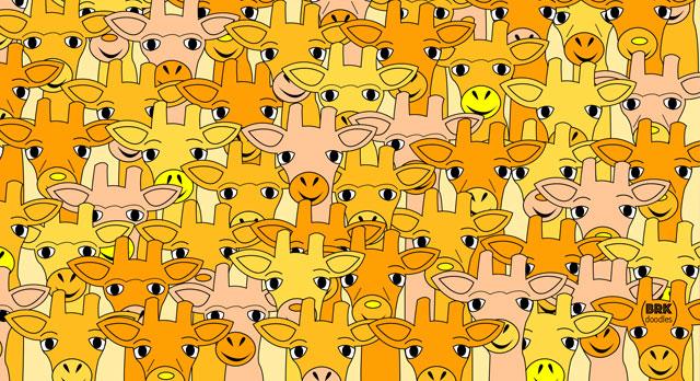 Reto Visual: Puedes encontrar a Yoda escondido entre las jirafas