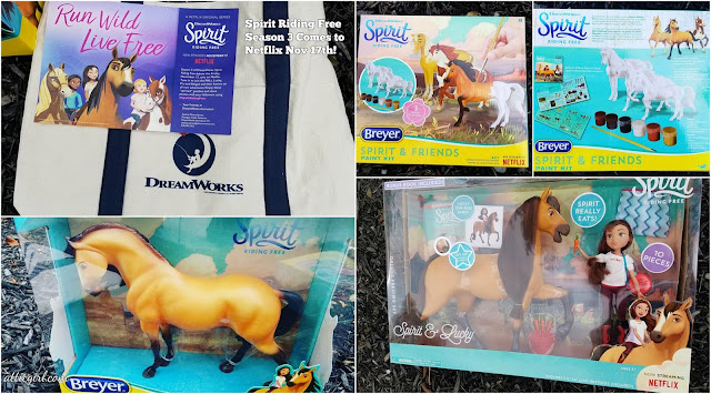Holiday Gifts, Holiday Gift Guide, Breyer horses, Just Play, Spirit & Lucky Deluxe Feeding Set, DreamWorks, Netflix series