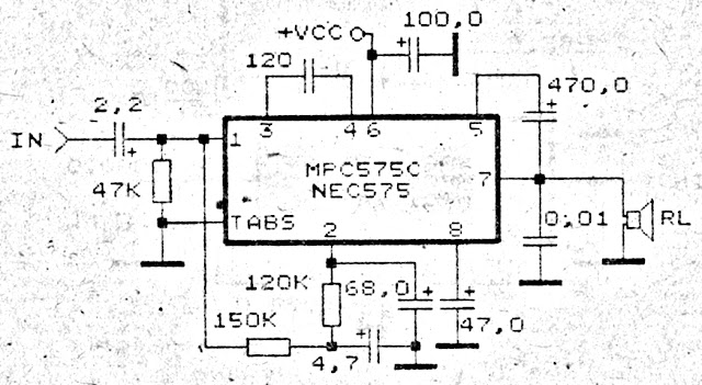 Small Power Audio Amplifier Circuit