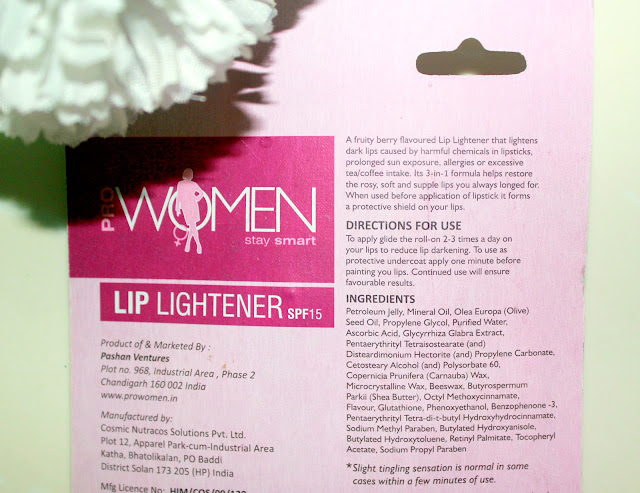 PROWOMEN Lip-Lightener And Non-Tinted Lipstick Undercoat Review
