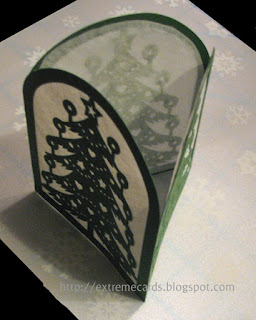 tealight Christmas card lantern