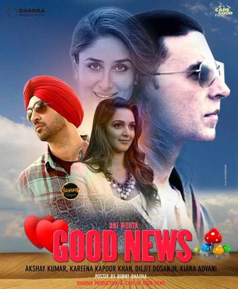 full cast and crew of Bollywood movie Good News 2019 wiki, Kareena, Akshay The Great story, release date, Good News wikipedia Actress name poster, trailer, Video, News, Photos, Wallpaper, Wikipedia