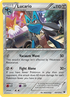Lucario Fates Collide Pokemon Card