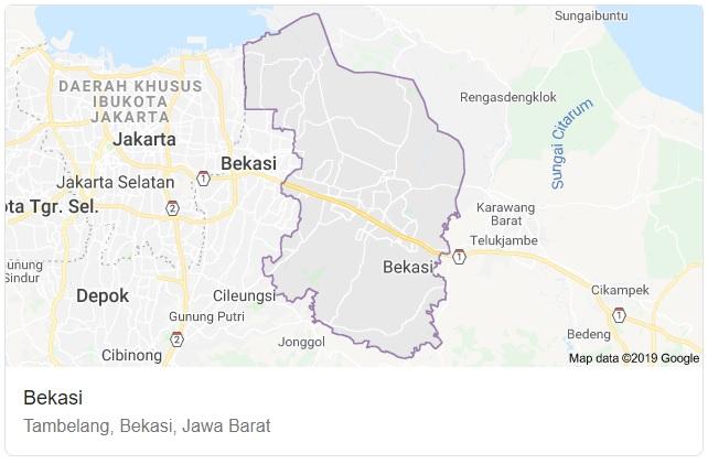 Peta Kabupaten Bekasi, Jawa Barat