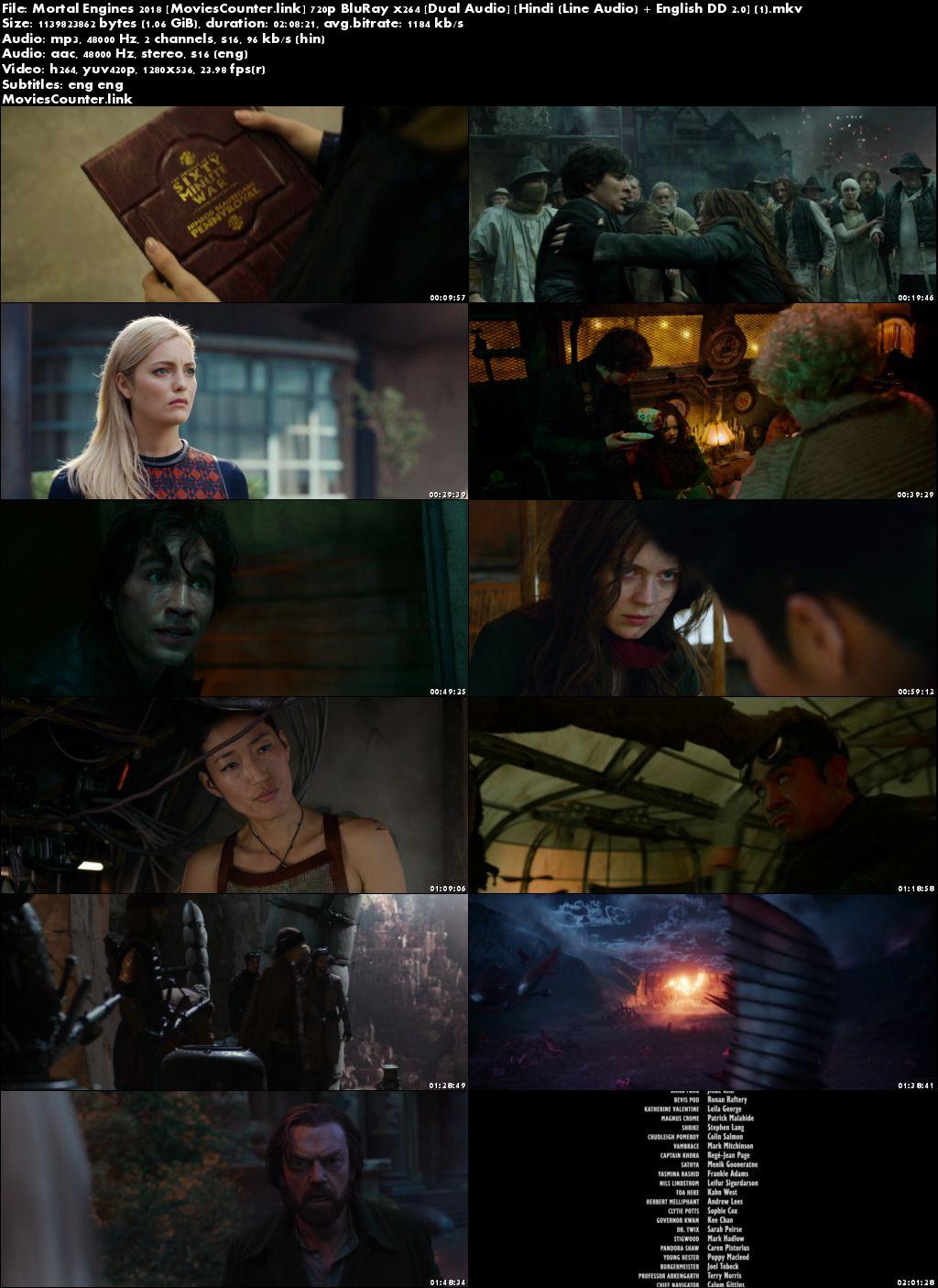 Screen Shots Mortal Engines 2018 Dual Audio HD 720p