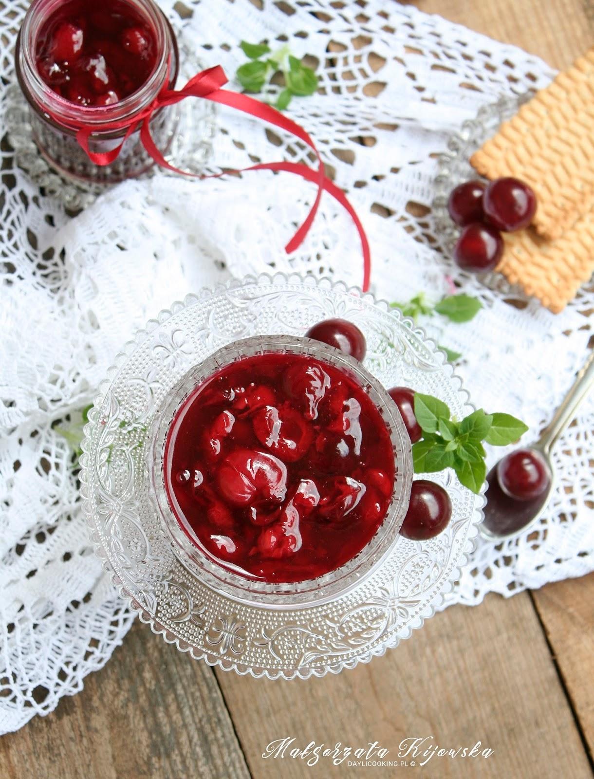 jak zrobić frużelinę, co to jest frużelina, wiśnie, przetwory, daylicooking, Małgorzata Kijowska