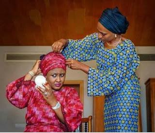 See This Beautiful Moment Between Aisha Buhari And Dolapo Osinbajo
