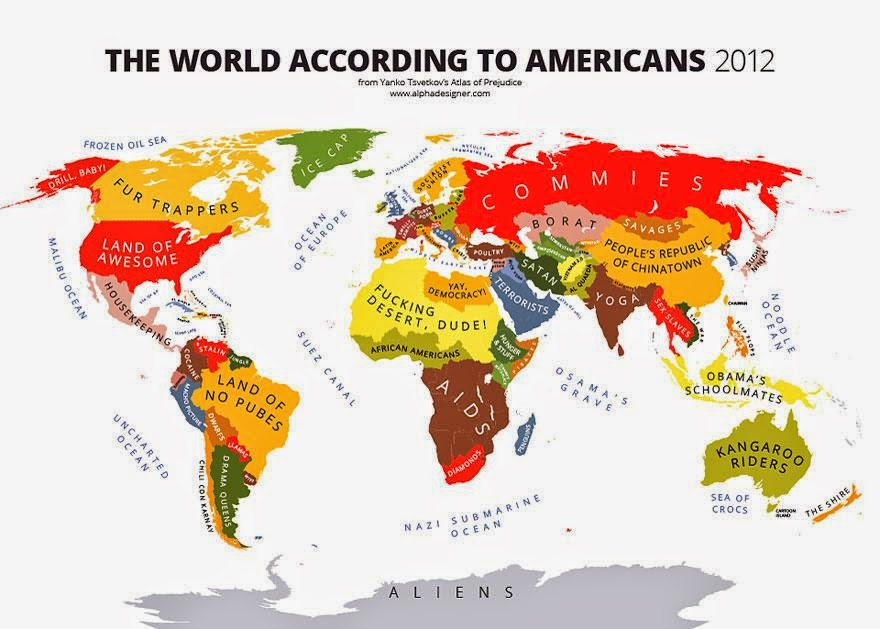 The World According to Americans - Maps You Never Would Have Seen in School