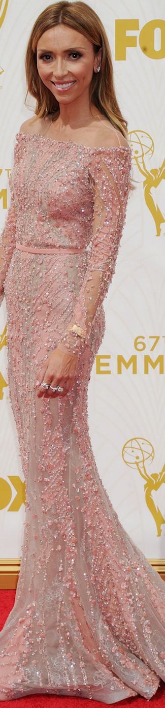 Giuliana Rancic in Zuhair Murad 2015 Emmy Awards
