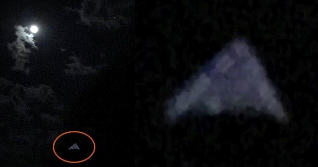 plane passenger captured glowing tr  triangle ufo  georgia