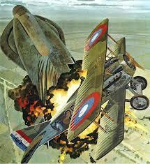 Lukisan Frank Luke karya Merv Corning