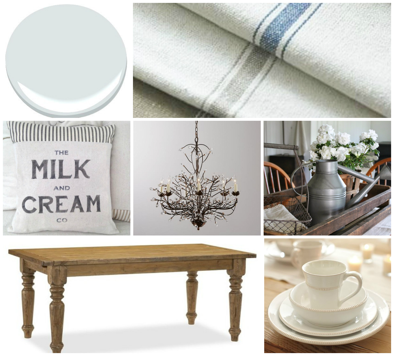 We bought a farmhouse february 2016 farmhouse wares grainsack fabrics milk and cream pillow from peekpilloworiginals on etsy camilla chandelier from pottery barn farmhouse centerpiece aloadofball Image collections