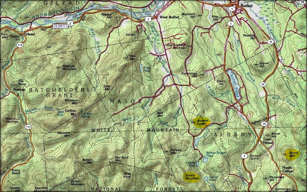1happyhiker 3 Hikes In Western Maine Albany Mtn Round Mtn Browns