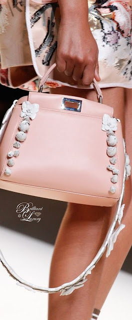 Brilliant Luxury ♦ Fendi Mini Peekaboo Floral-Embellished Satchel Bag