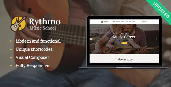 Music School WordPress Theme Free Download Rythmo v1.0.1 – Music School WordPress Theme Free Download