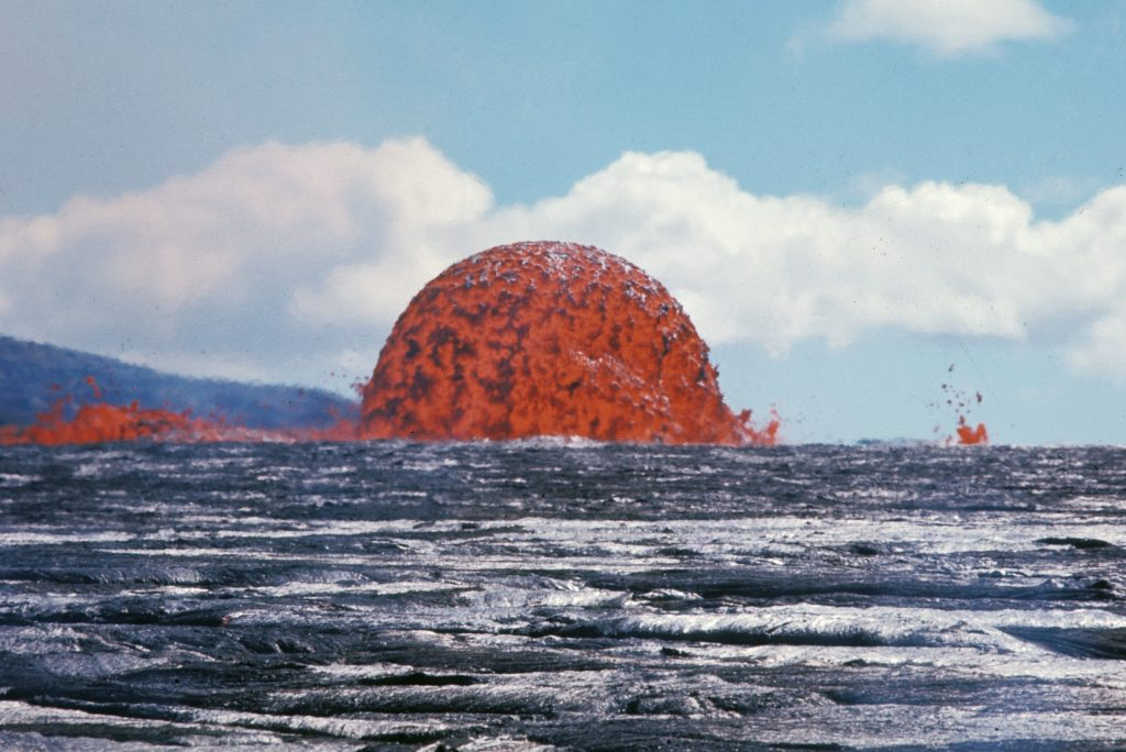 Jaw-Dropping Rare Image Of 65-Foot-Tall Lava Dome In Hawaii