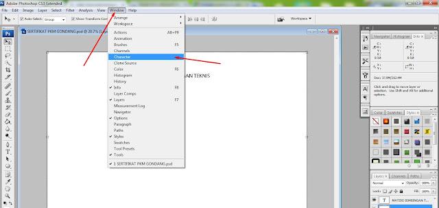 Cara Membuat Tulisan Bergaris Bawah Pada Adobe Photoshop CS3
