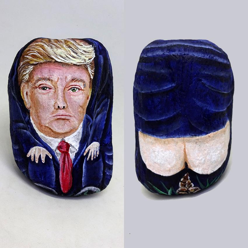 como pintar un caganer en una piedra