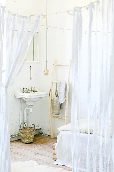 chambre voilage blanc aérien