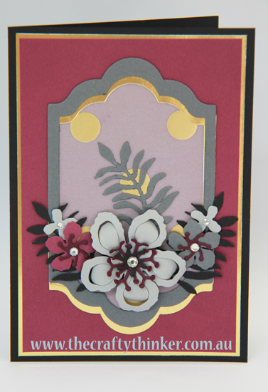 SU, handmade card, card with no ink, Botanical Builder framelits