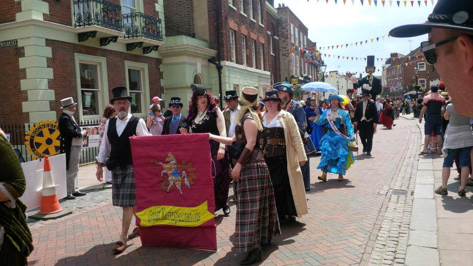 Dickens' Parade, Rochester High Street, Kent, UK